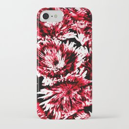 Red Black Abstract Flower Pattern  #Dahlias #Flowers iPhone Case