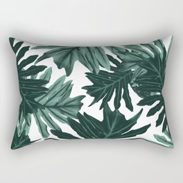 Philo Hope - Tropical Jungle Leaves Pattern #6 #tropical #decor #art #society6 Rectangular Pillow