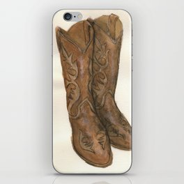 Watercolor Cowboy Boots iPhone Skin