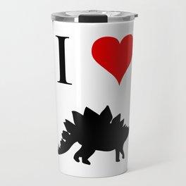 I Love Dinosaurs - Stegosaurus Travel Mug