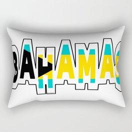 Bahamas Font with Bahamian Flag Rectangular Pillow