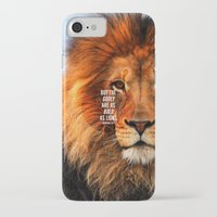 pocketfuel iPhone & iPod Cases featuring BOLD AS LIONS by Pocket Fuel