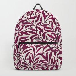 Leaves pattern pink Backpack