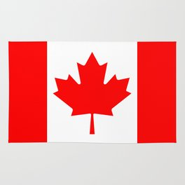 The National Flag of Canada, Authentic color and 3:5 scale version  Rug