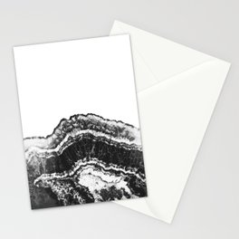 black half cut agate marble stone Stationery Cards