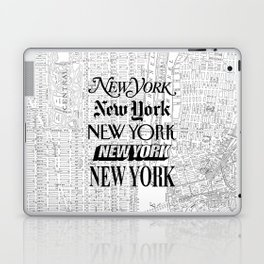 New York City black and white New York poster I love heart NYC Design black-white home wall decor Laptop & iPad Skin
