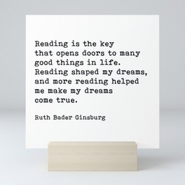 RGB, Reading Is the Key That Opens Doors, Motivational, Quote Mini Art Print
