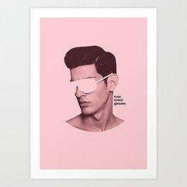 Rose Tinted Glasses Art Print