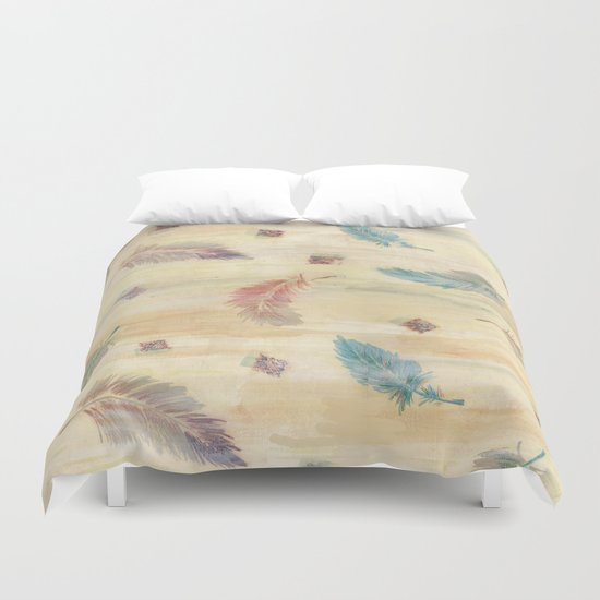 feather weather Duvet Cover
