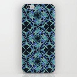 Thanksgiving - Blue Black iPhone Skin