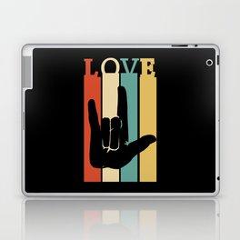 ASL Love Vintage Retro design Sign Language design Laptop & iPad Skin