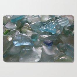 Ocean Hue Sea Glass Assortment Cutting Board