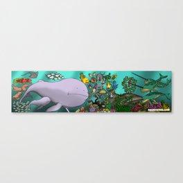 Ocean Splentafica (Cropped) Canvas Print