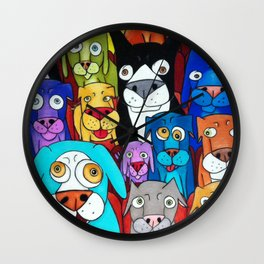 "Watching ""Cats"" Wall Clock"
