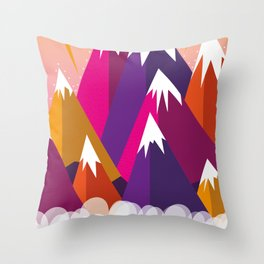 On top of the world ma !! Throw Pillow