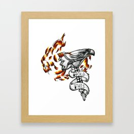 Hey, Hold This. Framed Art Print
