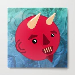 Smiley Demon Metal Print
