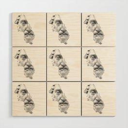 MARCUS AURELIUS ANTONINUS AUGUSTUS / black / white Wood Wall Art