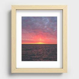 Pillar of Light Recessed Framed Print