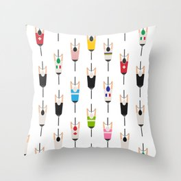 Bicycle squad Throw Pillow
