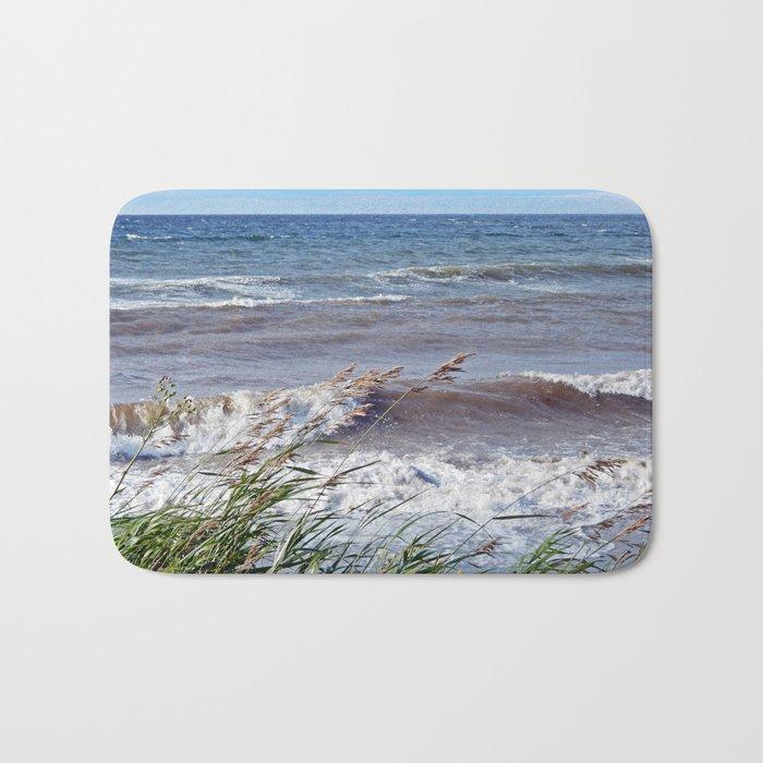 Waves Rolling up the Beach Bath Mat