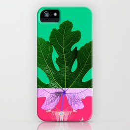 Fig Leaf Diamond Christmas - Other Half and Half iPhone Case