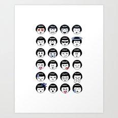 flapper doodle emoji Art Print