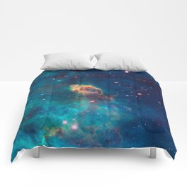 Space Nebula, A View of Astronomy, Stars, Galaxy, and Outer space  Comforters
