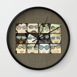 Glasses Vertical Wall Clock