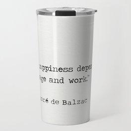 Honore de Balzac Travel Mug
