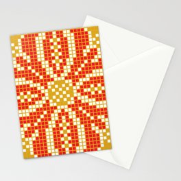 Red & Gold Flower Stationery Cards