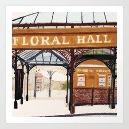 FLORAL HALL Art Print