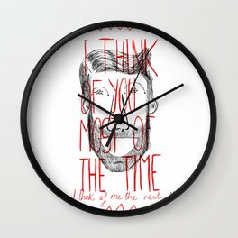 I think of you Wall Clock