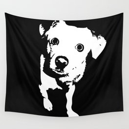 Graphic Dog | Black & White Wall Tapestry