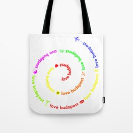 Love Budapest, icons, colors Tote Bag