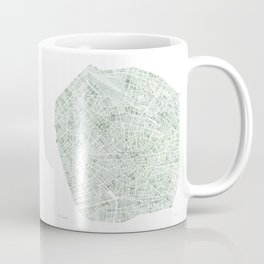 Milan Italy watercolor map Coffee Mug