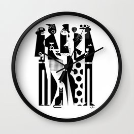 NYC Party People Wall Clock