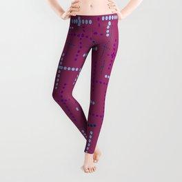 Croisement violet2 Leggings