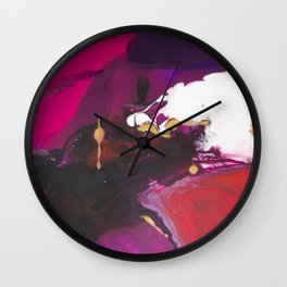 """""""Lust"""" abstract painting Wall Clock"""