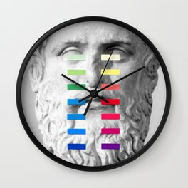 Sculpture With A Spectrum 1 Wall Clock