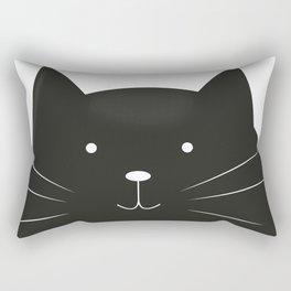 Cute cartoon black cat Rectangular Pillow