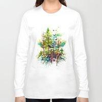 jungle Long Sleeve T-shirts featuring Jungle by Sah Matsui
