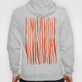 Vertical watercolor lines - orange Hoody