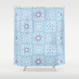 Retro Kitchen Quilt Patchwork Tile Pattern Shower Curtain