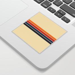 Classic Retro Stripes Sticker