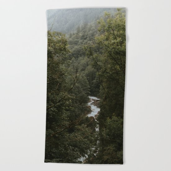 Forest Valley River - Landscape Photography Beach Towel