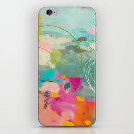 mixed abstract brush color study art 1 iPhone Skin