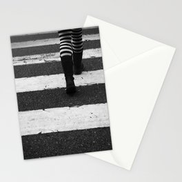 Walking stripes Stationery Cards