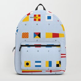 Maritime Signal Flags Poster Backpack