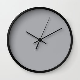 Metallic Silver - solid color Wall Clock